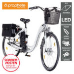 Real: Prophete Alu-Elektro-Fahrrad E200 26er oder 28er im Angebot