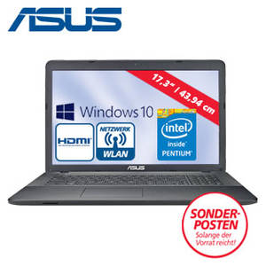 Real: Asus F751 Notebook mit Intel Pentium N3540 im Angebot