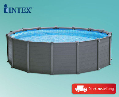 intex graphite panel pool im hofer angebot bis 31. Black Bedroom Furniture Sets. Home Design Ideas