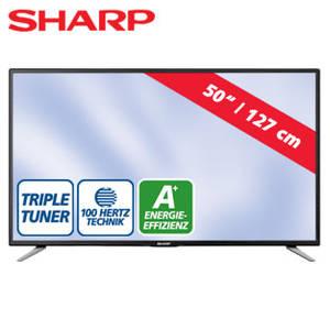 Real: Sharp LC-50CFE5102E 50-Zoll FullHD-LED-TV Fernseher im Angebot