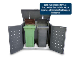 Alumero Aluminium Mülltonnenbox