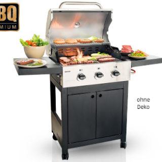 BBQ Premium Gasgrill Silverline 3-flammig: Aldi Süd Angebot