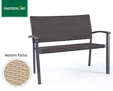 gardenline geflecht gartenbank und geflecht relaxsessel im angebot bei aldi s d ab 17 kw 20. Black Bedroom Furniture Sets. Home Design Ideas