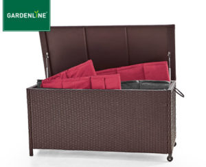 gardenline geflecht kissenbox bei aldi s d erh ltlich. Black Bedroom Furniture Sets. Home Design Ideas