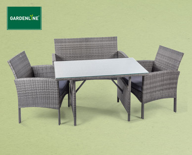 Hofer: Gardenline Lounge Set Imperia im Angebot