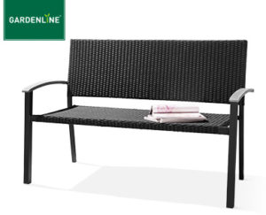 gardenline geflecht gartenbank und geflecht relaxsessel bei aldi s d erh ltlich. Black Bedroom Furniture Sets. Home Design Ideas