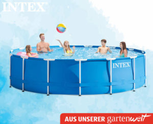 hofer intex pool set rund im angebot. Black Bedroom Furniture Sets. Home Design Ideas