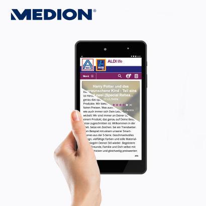 Medion E6912 E-Tab Tablet mit eBook Reader Funktion im Aldi Süd Angebot