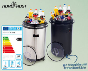 Hofer: Nordfrost Party-Cooler PC-50E im Angebot [KW 22 ab 29.5.2017]