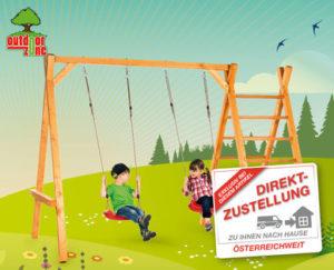 Outdoor Zone Schaukelgestell aus Holz im Hofer Angebot ab 17.8.2017