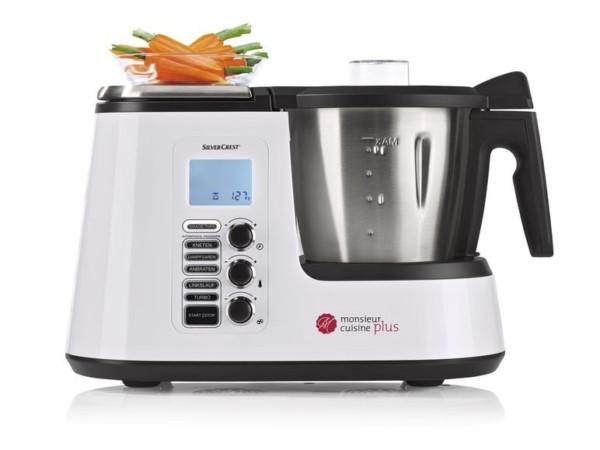 Silvercrest Küchenmaschine mit Kochfunktion Monsieur Cuisine Edition plus SKMK 1200 B2 bei Lidl erhältlich