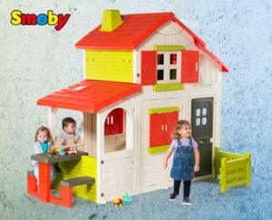 smoby duplex spielhaus im hofer angebot ab 2 kw 27. Black Bedroom Furniture Sets. Home Design Ideas