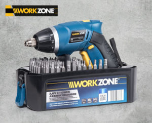 Hofer: Workzone 3,6V Li-Ion Akkuschrauber im Angebot [KW 22 ab 29.5.2017]