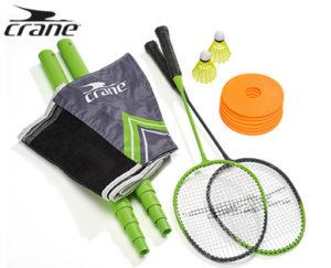 Crane Badminton-Set mit Netz