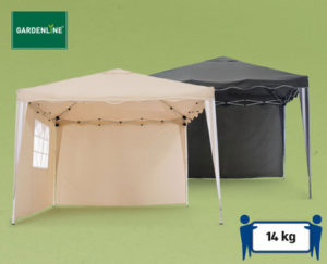 hofer gardenline alu faltpavillon im angebot ab 26. Black Bedroom Furniture Sets. Home Design Ideas