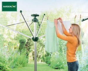 Gardenline Wäschespinne mit Schutzhüllen-Automatik bei Hofer erhältlich