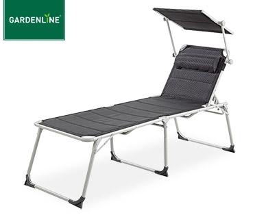 Gardenline XXL Aluminium-Komfort-Sonnenliege