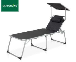 Gardenline XXL Aluminium-Komfort-Sonnenliege bei Aldi Süd erhältlich