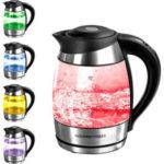 GourmetMaxx LED-Glas-Wasserkocher mit Temperatur-Farbcodierung bei Kaufland 22.6.2017 - KW 25