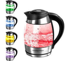 gourmetmaxx led glas wasserkocher mit temperatur farbcodierung im angebot bei kaufland kw 25 ab. Black Bedroom Furniture Sets. Home Design Ideas