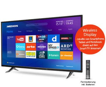 Aldi Süd 29.6.2017: Medion Life P17127 MD 31153 Smart-TV-Fernseher im Angebot