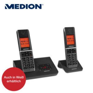 Aldi Nord: Medion Life P63041 MD 43074 Twin DECT-Telefon im Angebot [KW 13 ab 30.3.2017]
