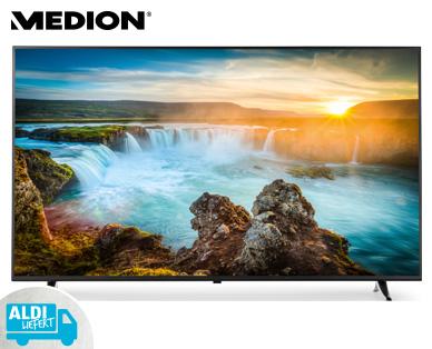 Aldi Süd 31.8.2017: Medion Life X18230 MD 31230 65-Zoll UHD Fernseher mit Hauszustellung