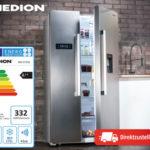 Hofer 6.12.2018: Medion Side-by-Side Kühlschrank MD 37250 im Angebot