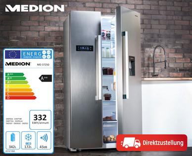 Side By Side Kühlschrank Leise : Hofer: medion side by side kühlschrank md 37250 im angebot ab 7.6.2018