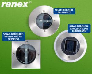 RANEX LED-Solar-Bodenleuchte bei Hofer erhältlich