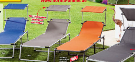 Norma: Solax Sunshine Alu-Sonnenliege im Angebot ab 11.6.2018