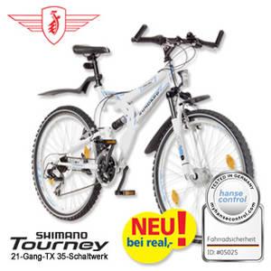 Real: Zündapp MTB Fully Blue 3.0 26er oder 28er Fahrrad im Angebot [KW 30 ab 24.7.2017]
