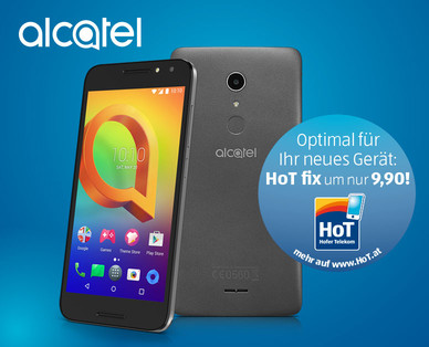 Hofer 31.8.2017: Alcatel A3 XL Smartphone im Angebot