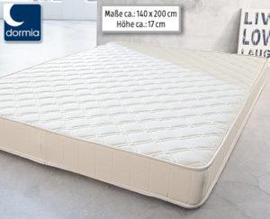Dormia supercomfort 140 Qualitäts-Matratze im Angebot bei Aldi Süd [KW 51 ab 21.12.2017]