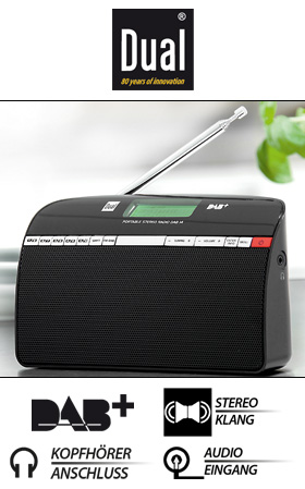 dual dab14 portables dab ukw radio bei norma erh ltlich. Black Bedroom Furniture Sets. Home Design Ideas