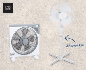 Hofer: EasyHome Ventilator im Angebot für 19,95€