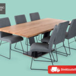 Living Style Esstischgruppe Industrial 7-teilig im Hofer Angebot [KW 50 ab 11.12.2017]
