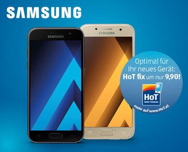 Hofer 7.8.2017: Samsung Galaxy A3 Smartphone im Angebot