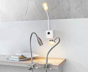 Casalux LED-Klemm- oder -Steckdosenleuchte