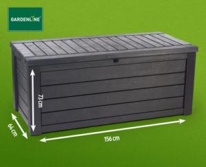 Gardenline XXL Aufbewahrungsbox Aufbewahrungsbox 570 Liter