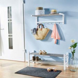 Home creation schuhregal und garderobe im aldi nord for Garderobe und schuhregal