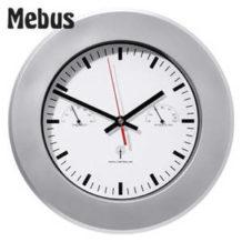 Mebus Große Funkwanduhr mit Thermometer und Hygrometer im Real Angebot