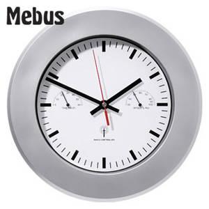 Mebus Große Funkwanduhr mit Thermometer und Hygrometer bei Real ab 9.10.2017 erhältlich