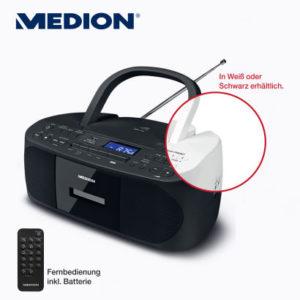Medion-Life-E64070-CD-MP3-Kassettenspieler