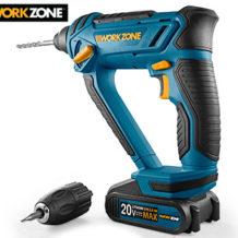 Aldi Süd 13.9.2018: Workzone 20 V Li-Ion Akku-Multifunktions-Bohrhammer im Angebot