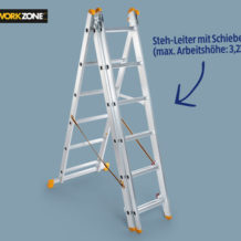 Hofer 6.9.2018: Workzone Alu-Leiter 3-teilig im Angebot