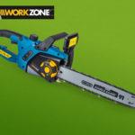 Hofer 6.9.2018: Workzone Elektro-Kettensäge im Angebot