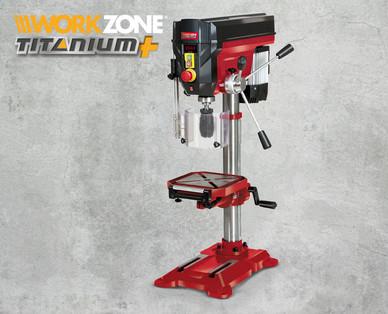 Hofer 2.8.2018: Workzone Titanium+ Säulenbohrmaschine im Angebot