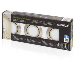 Casalux LED-Einbauleuchten 3er-Set: Aldi Süd Angebot ab 13.9.2018 - KW 37