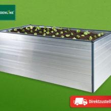 Aldi + Hofer 20.2.2020: Gardenline Hochbeet aus Aluminium im Angebot